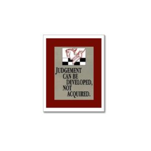 JUDGEMENT CAN BE DEVELOPED - BUSINESS POSTERS ART PRINTS