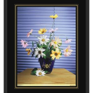 FLOWERS AT THE WINDOW FRAMED ART PRINTS GLASS