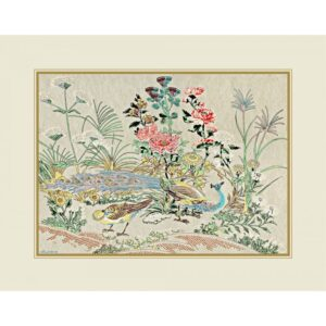 PEACOCK THE PRIDE OF INDIA ART PRINTS ON SILK | FRAMED